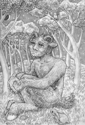 Melancholy Satyr, pencil