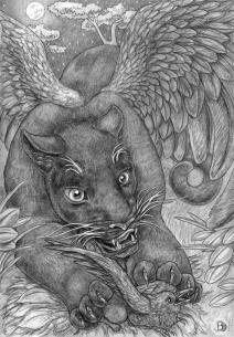 Sheba's Hunt, pencil