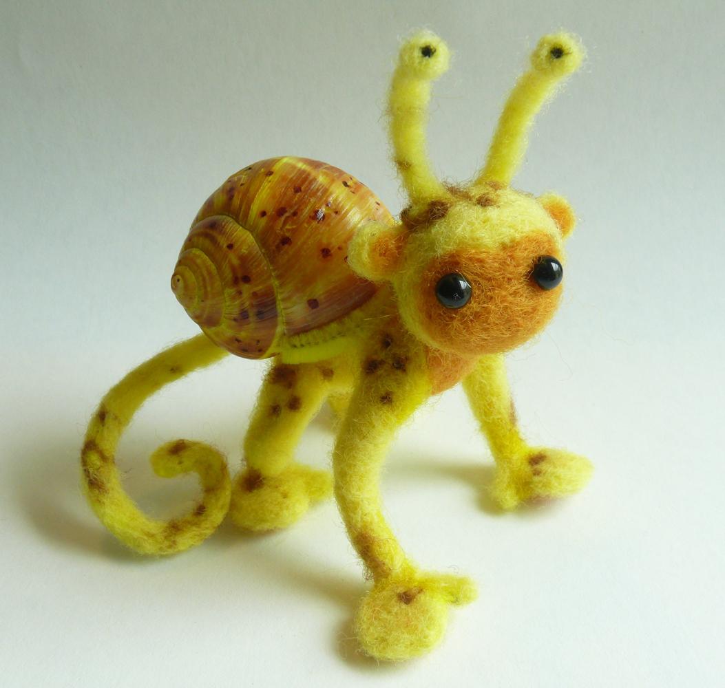 Spotted Banana Snonkey (snail-monkey)