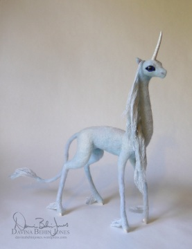 The Last Unicorn, needle felt